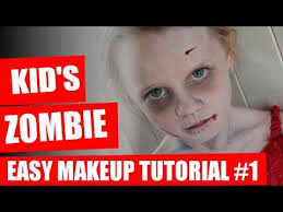 halloween makeup tutorial kids zombie