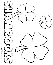 Patrick's day coloring page and many more from primarygames. Shamrock Coloring Pages