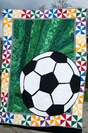 41 best Soccer Quilts - Ideas images on Pinterest | DIY, Crafting ... & Soccer quilt- raffle fund raiser Adamdwight.com