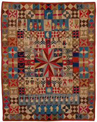 "The Centuries-Old Tradition of Military Quilting Is Getting Its ... & Intarsia Quilt with Soldiers and Musicians, artist unidentified; initialed  ""J.S.J.,"" Prussia, 1760s–1780s (The Annette Gero Collection. Adamdwight.com"