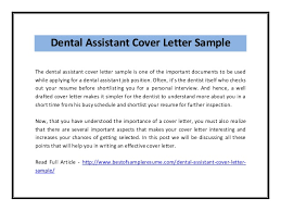 Entry Level Dental Assistant Cover Letters Entry Level Dental Assistant Cover Letter Example