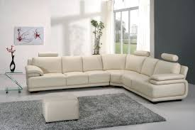 Living Room:Beautiful Cream Corner Sofa Design Ideas For Modern Living Room  With Grey Fur