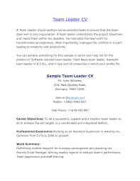 Resume Sample New Home Team Leader Resume So Free Download Team
