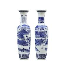Chinoiserie Design On Pottery And Porcelain Amazon Com Wenhui Set Of 2classic Blue And White Porcelain
