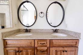 Rockrimmon Colorado Springs Bathroom Remodel, Toasted Almond Quartz  Countertop With 4u201d Backsplash, Undermount