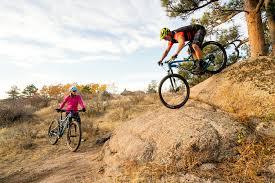 stu and linda test their trail bike skills