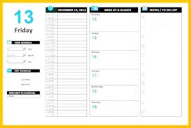 Daily Activities Template Daily Activity Schedule Template