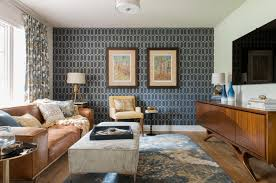 Geometric Living Room Accent Wall