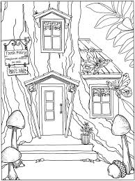 34 Fairy House Coloring Pages Fairy Tree House Coloring Pages