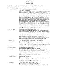 Pharmacy Clerk Resume Sample For Job Description Bunch Ideas Of