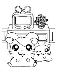 Hamtaro Paradijs Kleurboek Hamster Story Yellow