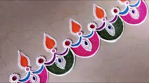 Side Rangoli Designs For Diwali Beautiful Border Rangoli Designs For Doors Side Wall