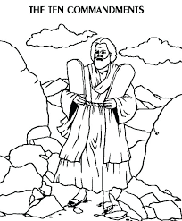 Free Printable Ten Commandments Coloring Pages Ten Commandments For