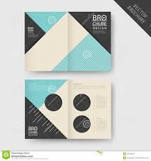 Modern Geometric Half-fold Brochure Stock Vector - Image: 48248542