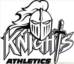 Small Picture knight logo free printable coloring page Knights Logo B2bw