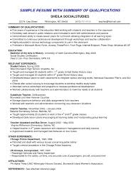 Resume Experience Summary Sample