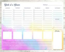 Weekly Planner Pdf Week At A Glance Habit Tracker Week At A