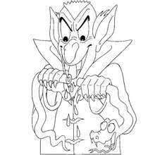 Small Picture Dracula sleeping in a coffin coloring pages Hellokidscom