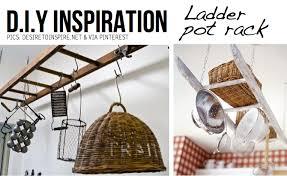 pot rack hack hangers pics  ladder pot rack pics