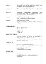 Aspekte Der Germanistik Wie Kann Der Lebenslauf Aussehen