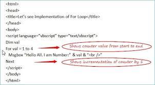Vbscript Msgbox Chart Numbers Vbscript Loops For Loop Do Loop And While Loop