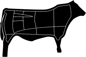 beef cow outline. Beautiful Outline Beef Cow Outline With Butchering Cut Lines Intended Cow Outline