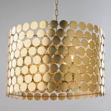 metal lighting. dotted metal drum shade chandelier lighting n