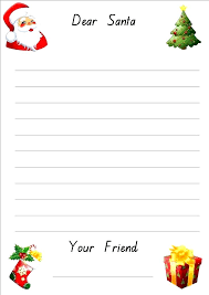Christmas Note Template Christmas Note Paper Template Design Writing Paper Lined Template