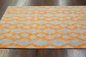 blue gray orange rug modern contemporary blue grey yellow orange hand hooked