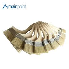 Mainpoint <b>9Pcs Bristle Hair</b> Wall Paint Brushes Wooden Handle Oil ...