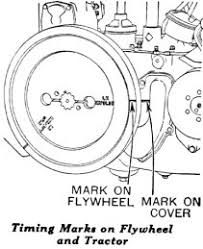timing the magneto flywheel view