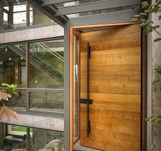 textured wooden front door design