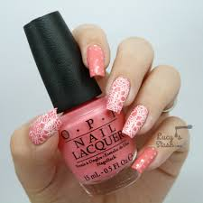 Stamped lace nail art & glitter placement - Lucy's Stash
