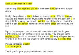 letter of complaint speak out upper int unit emilie dec
