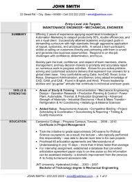 Fresh Principal Mechanical Engineer Sample Resume B4 Online Com