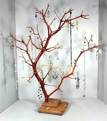 Large Wooden Tree Display Stand Adorable Jewelry Display Tree View In Gallery Red Jewelry Tree Large Jewelry