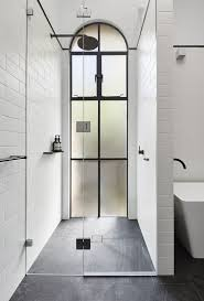 a full height french style frosted glass window looks wow and adds style yet keeps privacy