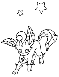 Eevee Evolutions Coloring Pages Leafeon