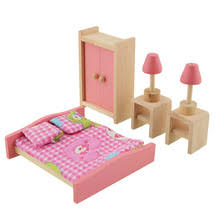 cheap dollhouse furniture. dollhouse furniture double bed with pillows and blanket wooden doll bathroom miniature kids child play toy cheap u