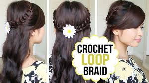 You Tube Hair Style crochet loop braid hair tutorial half updo prom hairstyle youtube 6164 by wearticles.com