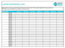 Free Workout Spreadsheet Weekly Exercise Log Sheet Monthly Template