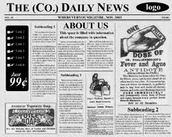 Free Newspaper Template Psd Old Newspaper Photoshop Under Fontanacountryinn Com