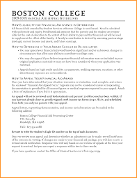 college appeal letter college financial aid appeal letter sample