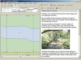 river studies for geography gcse and a level by focus educational  program 1 virtual river flow virtual river