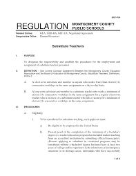 Substitute Teacher Job Description Resume For Image Examples