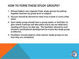 Teacher Study Groups Student Presentation