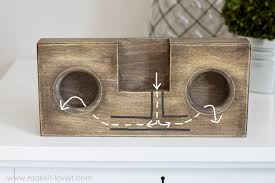 diy wooden phone amplifier speaker no cord or batteries needed via make