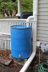 picture of rain barrel and diverter