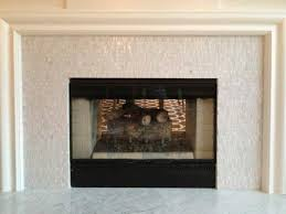glass mosaic in black framed ideas of fireplace ideas full size