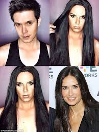 celebrities famous celebrities look like celebrities male actor transformation tv host weird celebrities weird news guy makeup10 guy makeup